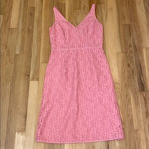 Pink Lined Lace Ann Taylor Dress